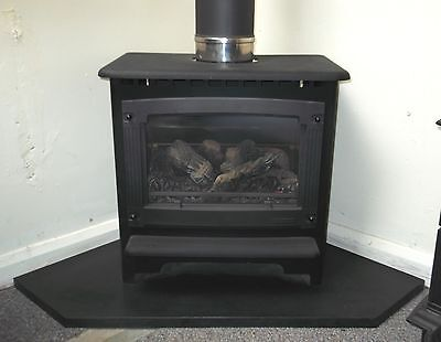 Corner Stove Hearth Black Granite Fireplace Base