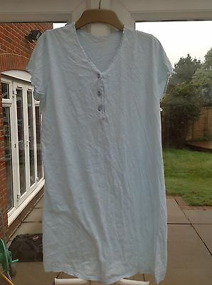 Blue Set of Two Mothercare Cotton Maternity Nightdresses Size 8/10
