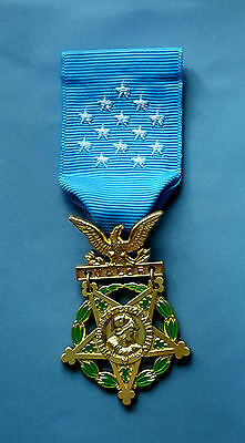 US Army 1904-44 - MEDAL OF HONOR and RIBBON-Full Size-American WW2 Replica Award