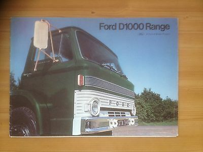 A Ford D Series truck & lorry  brochure & specification booklet