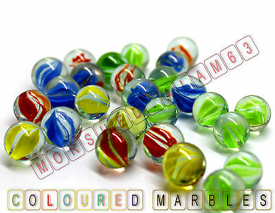 Multi Coloured Glass MARBLES HI-QUALITY Kids Vintage Toys Traditional Games Fun