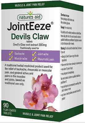 Natures Aid - JointEeze® Devils Claw root extract 300mg - 90 Tablets