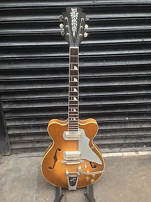 Vintage 1960s Kay Old Kraftsman Jazz II thinline guitar rare Kleenex Box pickups