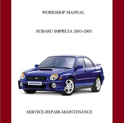 Subaru Impreza WRX/STi 2001-2003 Workshop Repair Manual