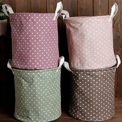 Foldable Simple Designed Washing Clothes Laundry Basket Storage Bag Hamper