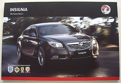 Vauxhall . Insignia . 2012 Models  Edition 1 . Sales Brochure