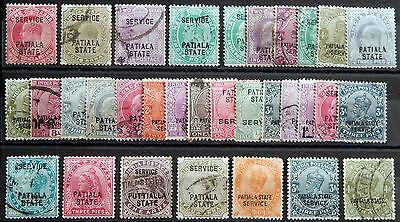 Indien India British PATIALA State ab Victoria used  MH *
