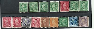 Selection Of Washington Franklin Stamps--All Mint-35
