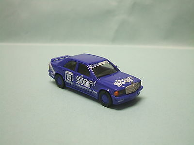 Herpa - MERCEDES BENZ MB 190 E Racing Star bleue Voiture HO 1/87