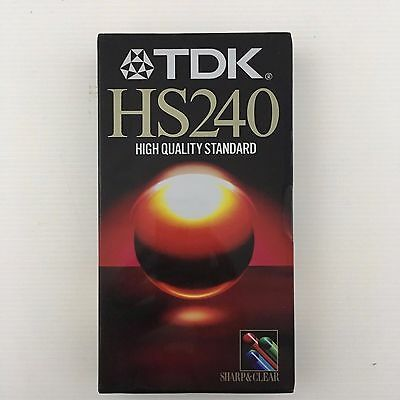 TDK HS240 E240 HS High Quality 4 Hours VHS Video Tape E-240HSEH NEW SEALED