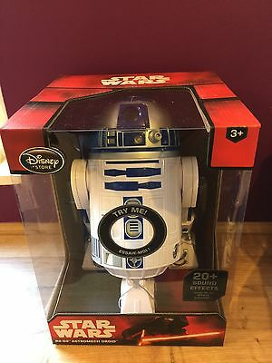 Disney Store Star Wars The Force Awakens R2-D2 Talking Interactive Figure New