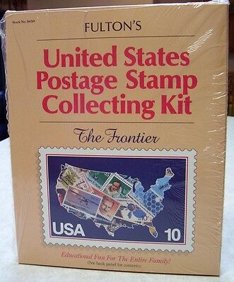 USA Stamp Collecting Kit - New Album+50 Stamps+Hinges+G