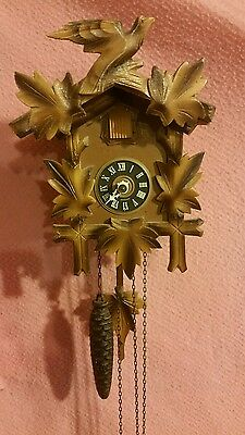 Hand Carved German Cuckoo Clock For Parts