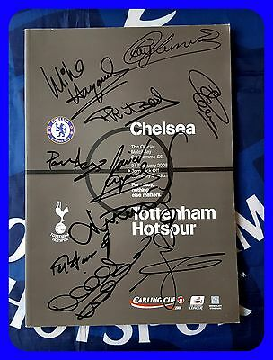 TOTTENHAM HOTSPUR 2008 Carling Cup Final Programme SIGNED x10 OSSIE ARDILES