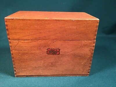 "Vintage Wooden Weis Recipe Card Box 3.75"" x6.5"""