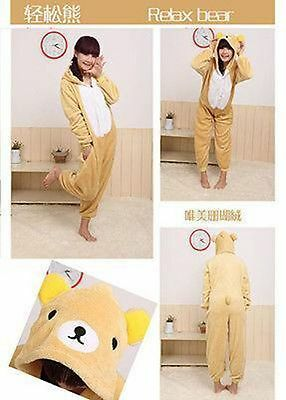 Hot&Unisex & Adult Pajamas Kigurumi Cosplay Costume Animal Onesie Bear