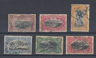 Belgian Congo 1894-1910 Selection Used Hinged No Gum (#1401)