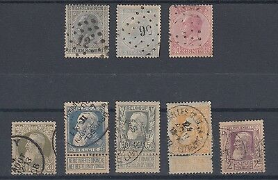 Belgium 1865 & 1905 Early Selection Used Hinged No Gum (#1143)