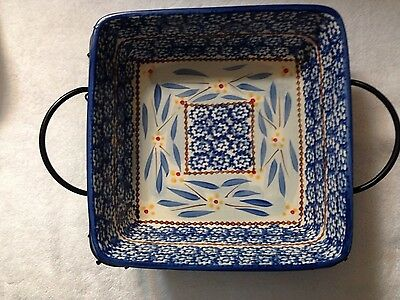 QVC Temp-tations Presentable Ovenware by Tara-Old World Blue 1 1/2 Qt Casserole