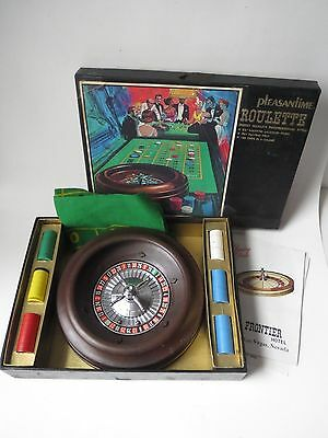 Vintage 1950's Roulette Wheel Game by Pleasantime with instructions