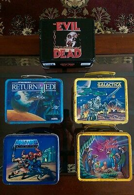 vintage metal lunch box lot