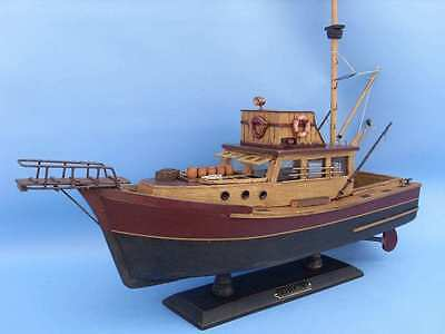 "Wooden Jaws - Orca Model Boat 20"" Shark Fishing"