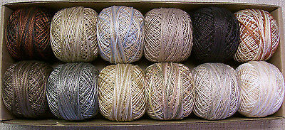 Valdani Perle Cotton size 12 Beige and Brown