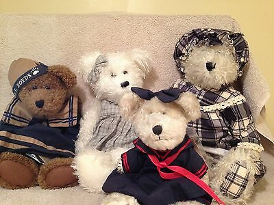 """**REDUCED** Boyds Bears Gathering, Lot, Group of old Bears 16"""", 15"""" & 12"""""""