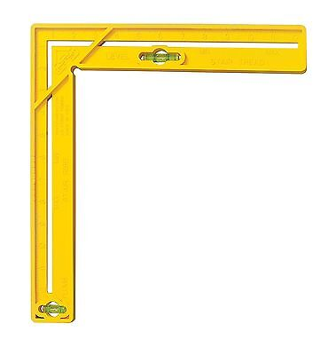 Level Best 4-in-1 Handy Multi-Tool Square with Level, Yellow, 12X12