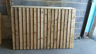 Wooden Fence Panels Treated Feather-Edge Fence Panels 6Ft, 5Ft, 4Ft,3Ft