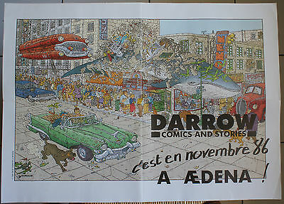 Affiche Promotionnelle Poster Geof Darrow Comics And Stories Aedena 1986