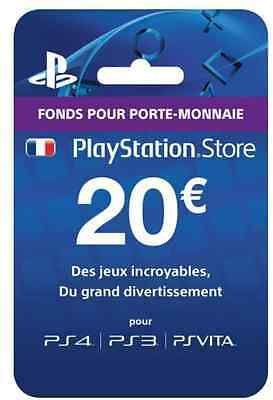 PlayStation Network 20 EURO Carte Code Jeu [FR] PSN PS4 PS3 - €20 PS Store