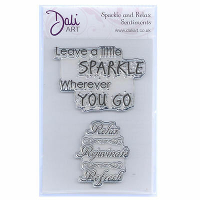 Dali Art A6 Clear Rubber Stamp - Sparkle & Relax Sentiments