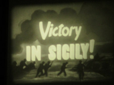16mm War Newsreel/ Victory In Silcily Italy   100ft