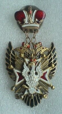 Sign of the Order of the White Eagle Russian Imperial Order Copy