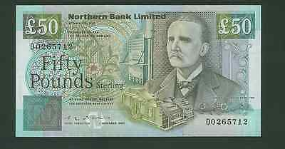 RARE 50 Pounds UNC Northern Bank Limited 1990 P196a Northern Ireland