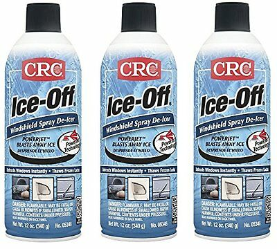 CRC 05346 Ice-Off Windshield Spray De-Icer - 12 Wt Oz. (3-Pack)! FREE SHIPPING!!