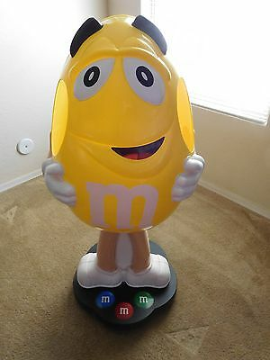 Yellow M&M Peanut Candy Display Man over 3 Feet Tall
