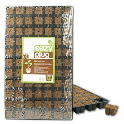 Eazy Plug Coco Peat Propagation Tray 12/77Cubes Seeds Cuttings