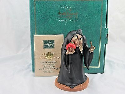 """WDCC """"Take the Apple Dearie"""" Witch from Disney's Snow White in Box with COA"""