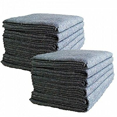 """Cheap Cheap Moving Boxes - Textile Moving Blankets 12-Pack - Grey - 72"""" x 54"""""""