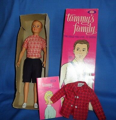 Tammy's Brother TED In Box 1964  Ideal Booklet & Extra Tagged Shirt