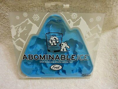 Fred and Friends Abominable Ice Men Tray Abominable Snowman Yeti Ice Cube Mold
