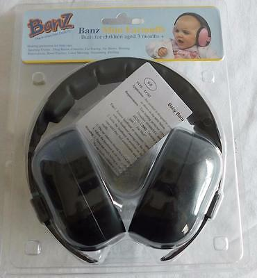 Baby Banz Children's Hearing Protection Earmuffs Ages 2-10 Black, Free Shipping