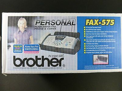 NEW !!  Brother Personal Plain Paper Fax Copier Phone Machine Fax 575