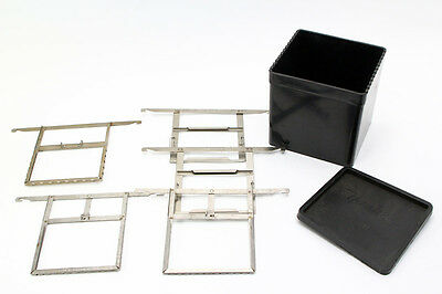 Yankee 4X5 Processing Tank With 5 4X5 Film Hangers & Lid
