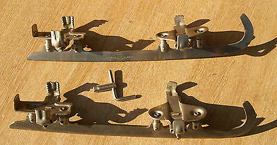 STYRIA OLYMPIC brand ICE SKATES, VINTAGE, 11 inches from toe to heel grip, steel