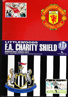 Manchester United V Newcastle United Programme Charity Shield Aug 1996 + TICKET