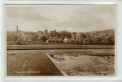 TAIN FROM THE BEACH: Ross-shire postcard (C23745)