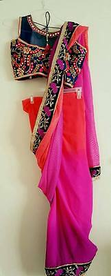 USA saree with ready made blouse